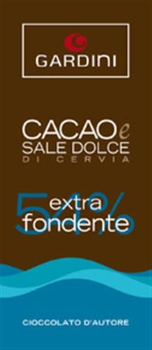 EXTRA FONDENTE 54% CON SALE DOLCE DI CERVIA 50 gr